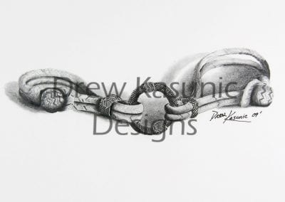 Braided Forever is a shaded and hand-drawn with pencil by Drew Kasunic.