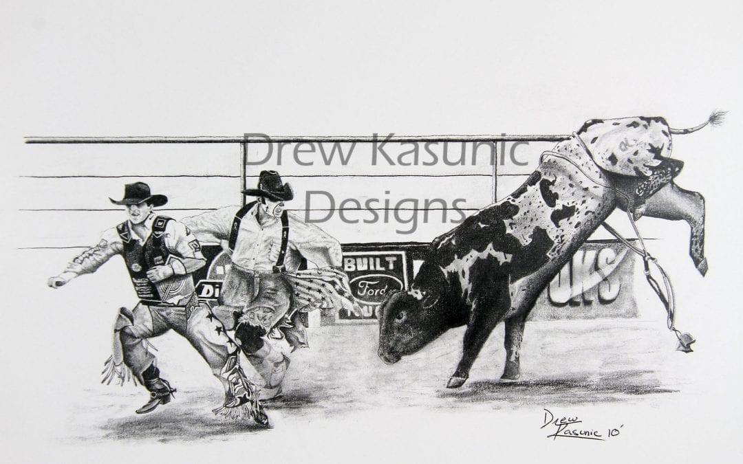 Rodeo Pencil Art by Drew Kasunic