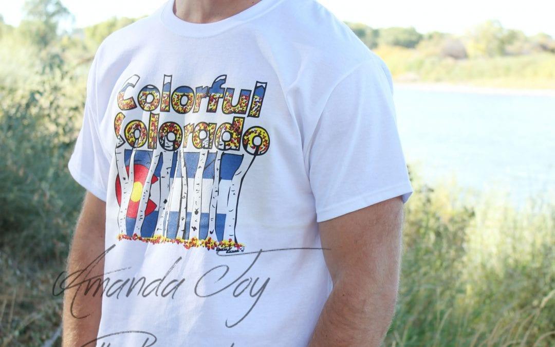 Colorado Colors Hand Drawn T shirt design