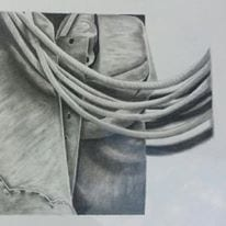 Chaps and Rope Drawn in pencil and shaded by Drew Kasunic
