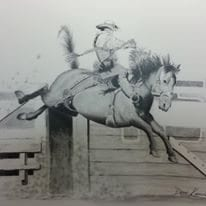 hand drawing of sit and spur by drew Kasunic